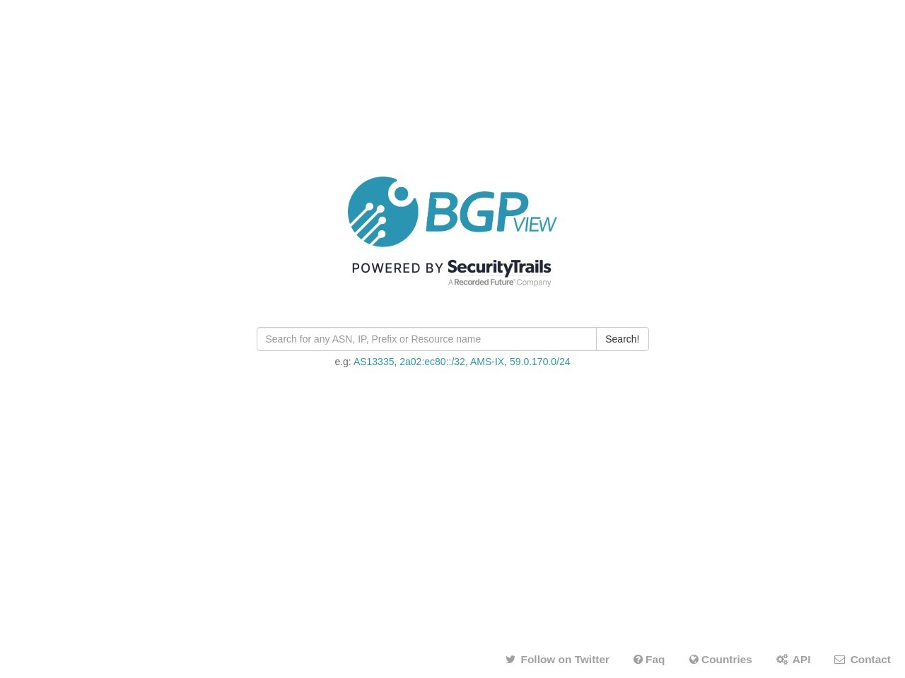 Home Page - BGPView