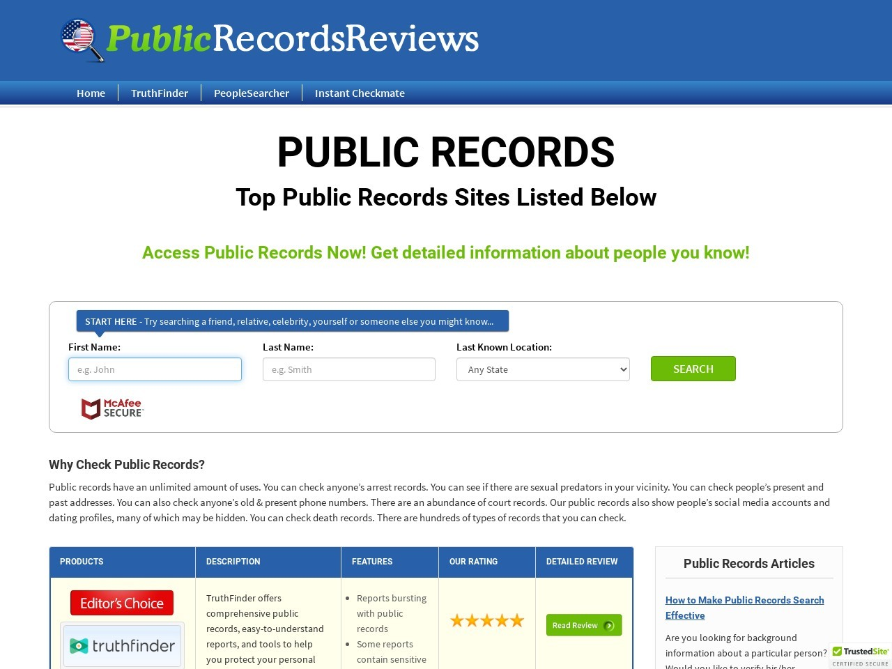 publicrecordsreviews.com